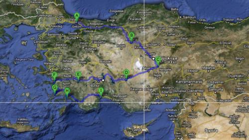 На машині по Туреччині