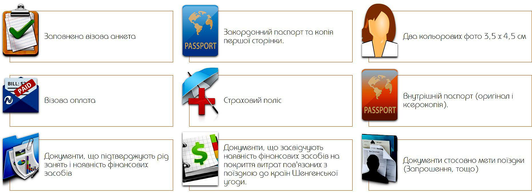 Документи для Шенгенської візи