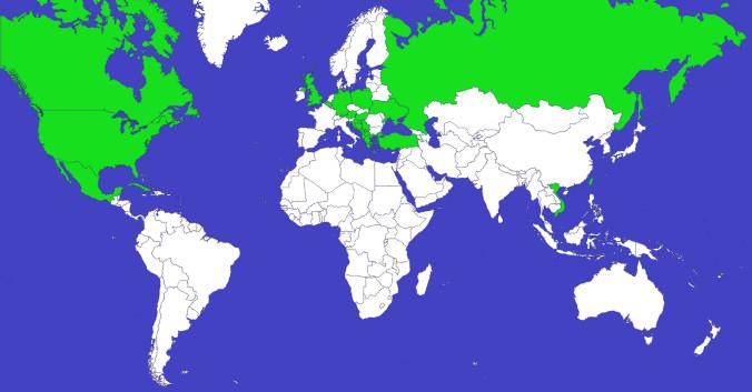відвідані країни у 2014 році