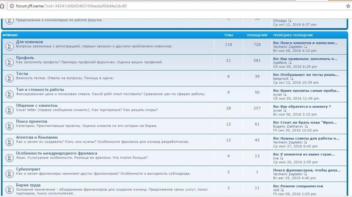 Ось так виглядає форум forum.jff.name