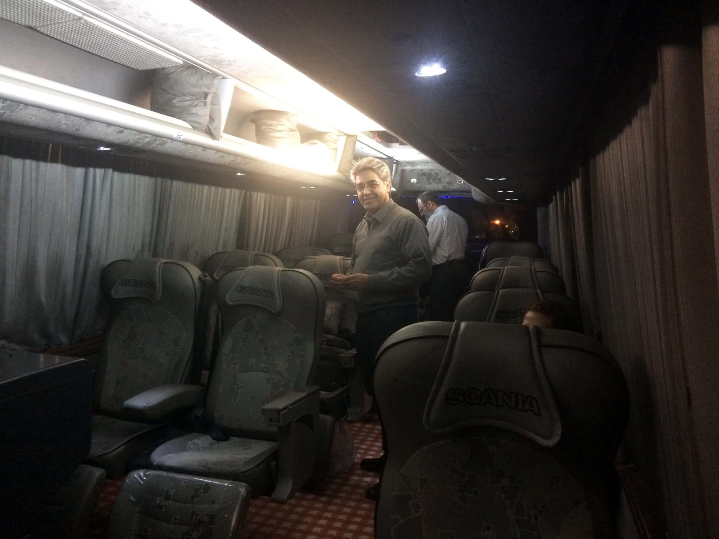 Іран. Фото автобуса зсередини