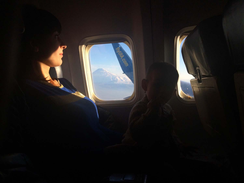 Арарат з вікна літака