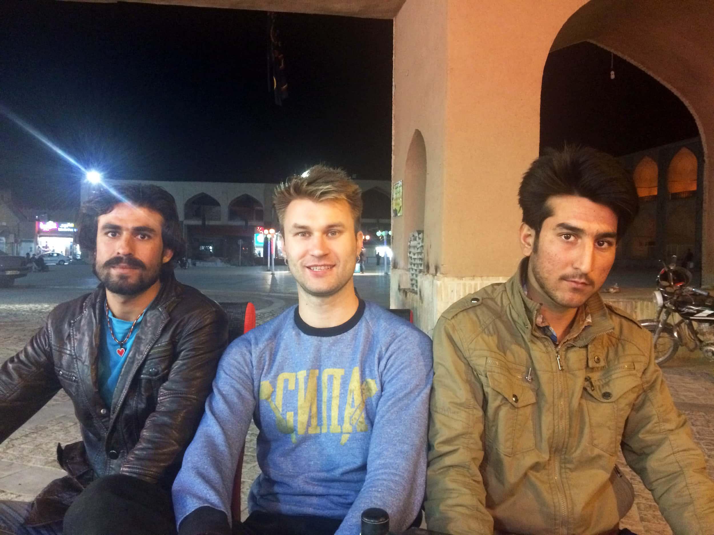 Язд. Фото з місцевими авганцями