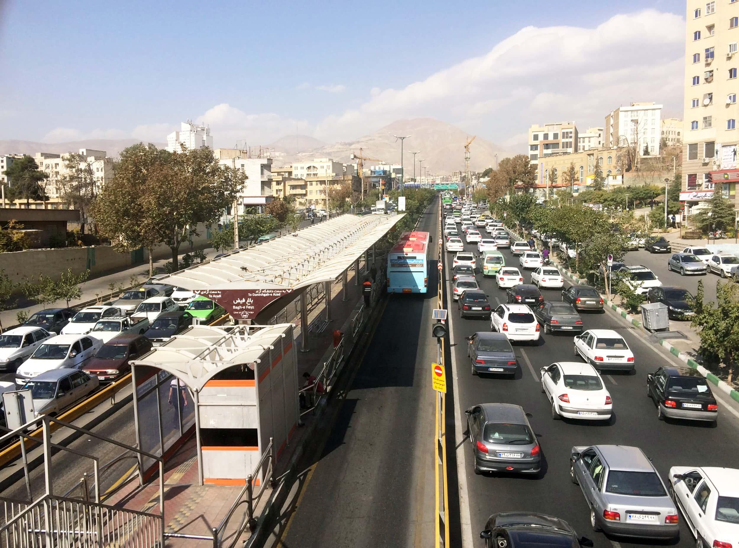 Іран. Тегеран трафік