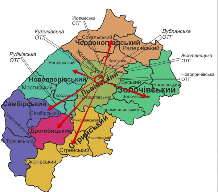 нові райони львівської області зв'язки