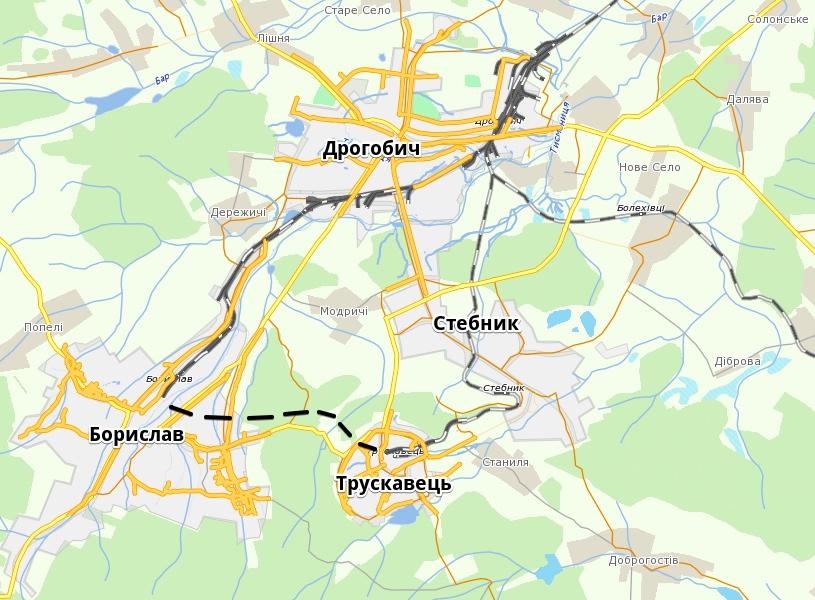 дрогобицька агломерація - залізниця